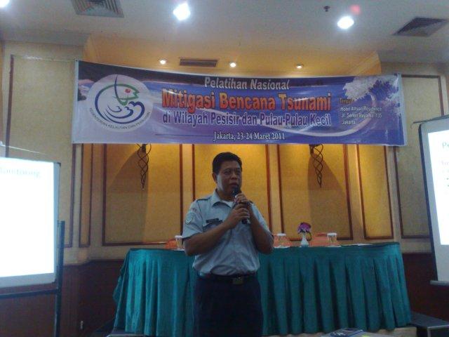 Suharjono-BMKG pada acara Pelatihan Mitigasi Bencana di Kementerian Kelautan dan Perikanan
